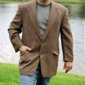 Burberry Mens 42R Houndstooth Blazer 100% wool
